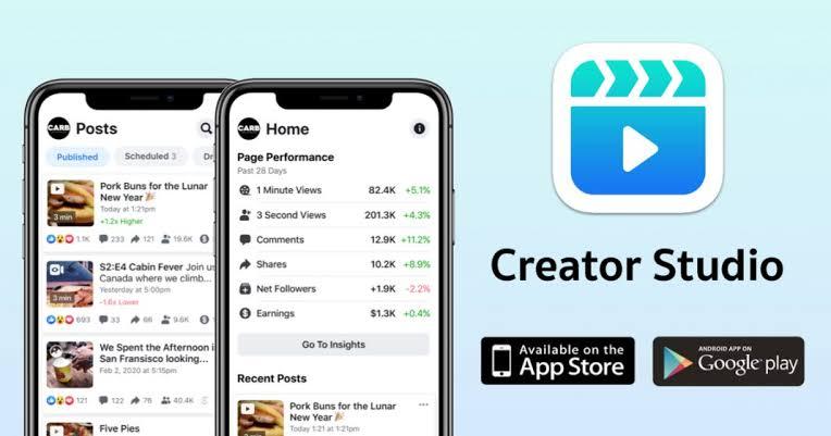 Facebook Launches Creator Studio Mobile App