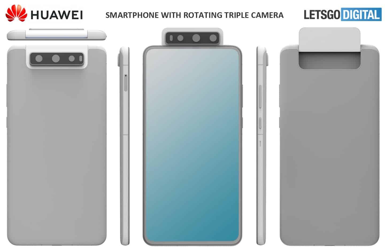 Meet Huawei Smartphone With Three Rotary Camera Sensors
