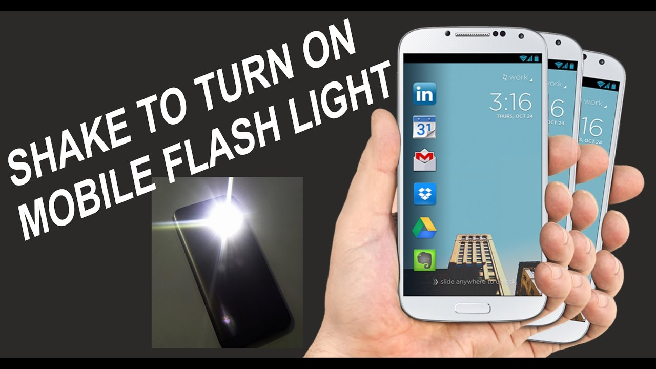 Shake Your Phone To Turn On Flashlight | see how to.